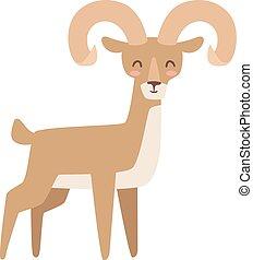 Mountain deer vector illustration. - Mountain deer wildlife...