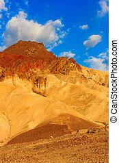 Mountain desert landscape in Death Valley National Park, California