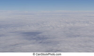 Mountain desert landscape, top view from airplane - Mountain...