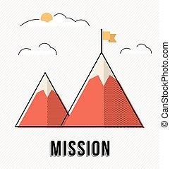 Mountain design concept for business goals