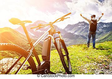 Mountain E Bike In Austria
