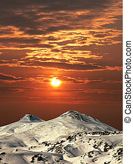 Mountain Elbrus. - Mountain Elbrus in Balkaria, Central ...