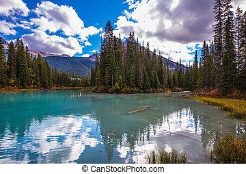 Mountain Emerald lake