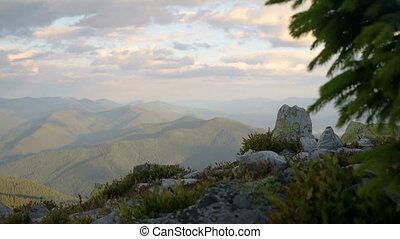 Mountain evening landscape - Sunset Mountains Landscape, Sky...