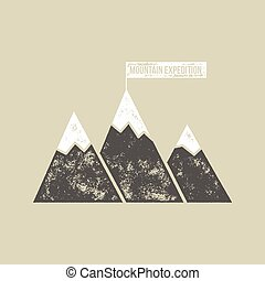 Mountain Expedition T-Shirt Vector Design