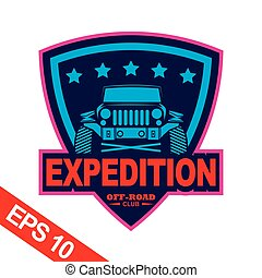 Mountain expeditions logo template