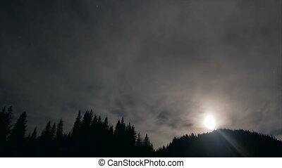 Mountain fog sky star - Stars sky space astrophotography...