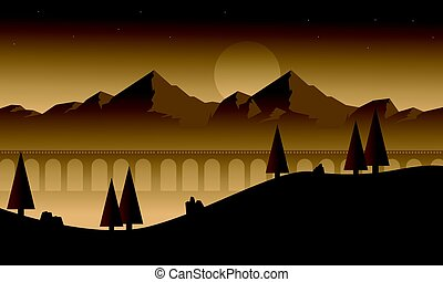 Mountain for game background style