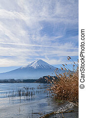 Mountain fuji and Kawaguchiko lake in autumn, Japan