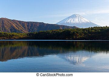 Mountain Fuji and Lake saiko