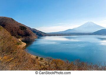 fujisan with Motosu lake - Mountain Fuji fujisan with Motosu...