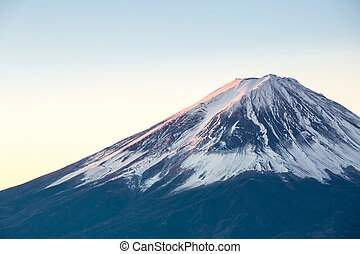 Mountain Fuji sunrise Japan - Mountain Fuji in winter ...