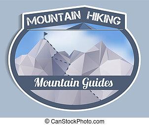 Mountain Guides sticker - polygonal