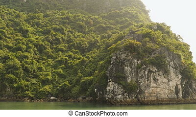 Mountain Ha Long Bay. North Vietnam.
