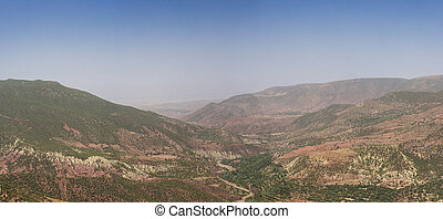 Mountain High Atlas in the summer, Morocco