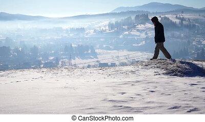 Mountain Hiker Climbing Adventure Village - Mountain Hiker...