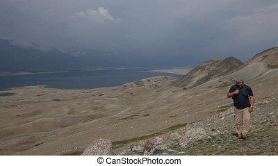 Mountain Hiking in Mongolian Altai