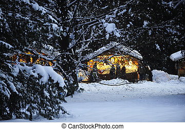 mountain house winter
