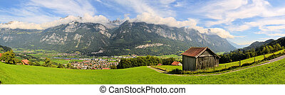 a mountain hut inear Flims in the Swiss alps