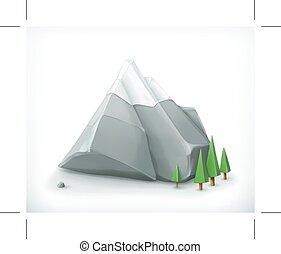 Mountain icon, isolated on white background