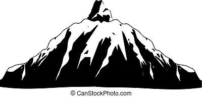 Mountain Icon on White Background