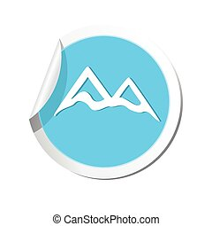 Mountain icon. Vector illustration