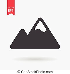 Mountain Icon vector. Mountain sign isolated on white background. Flat design style.