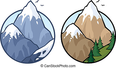 Mountain in 2 versions. No transparency used. Basic (linear...