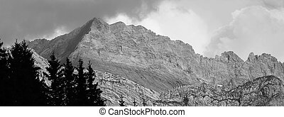 Mountain In B&W