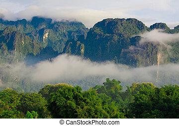 Mountain of Vang Vieng, Laos