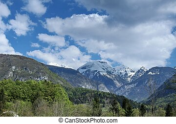 Mountain in nice sunny day