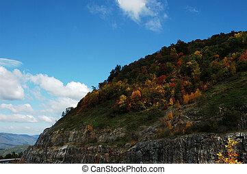 Mountain in the fall
