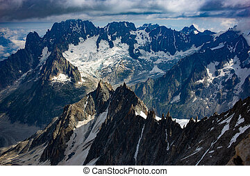 Mountain in the french alps chamonix