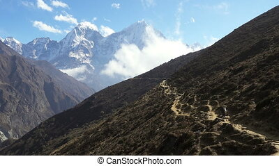 mountain in the Nepal Himalaya.
