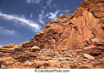 Mountain in Wadi Rum desert