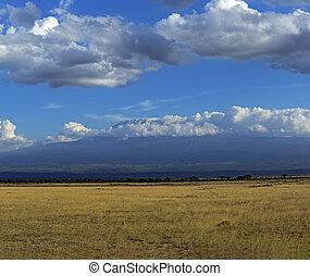 Amboseli National Park - Mountain Kelimandzharo in African ...