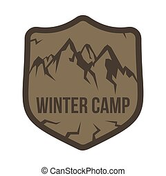 Mountain labels in vintage style