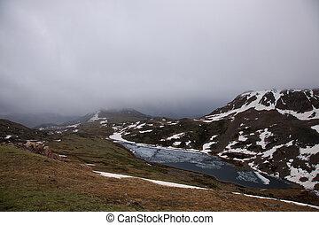A mountain lake in the Absaroka Mountains