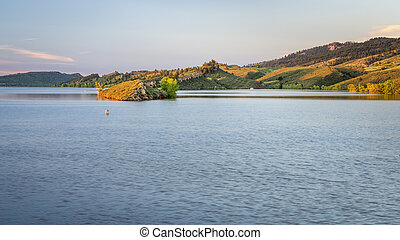 mountain lake at Colorado foothills