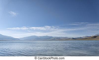 Mountain lake at morning