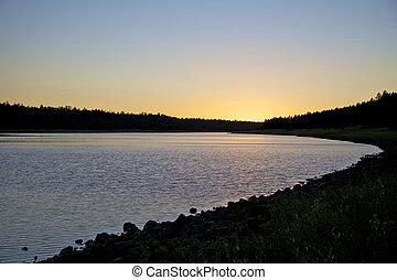 Mountain Lake at Sunset
