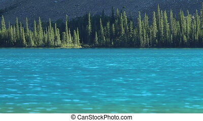 Mountain Lake - Bow Lake in the Rocky Mountains of Canada