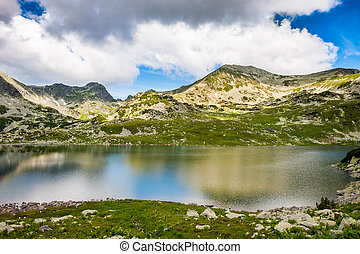 Mountain lake Bucura, in Retezat, Romania, Europe