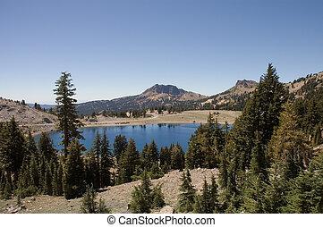 Mountain Lake - Helen Lake a tree lined Mountain lake in ...