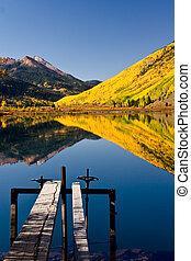 Mountain Lake in Autumn