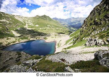 Mountain lake in Caucasus (Arhiz, Russia)