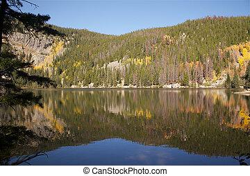 Mountain Lake in Fall