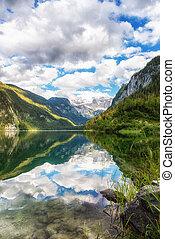 Gosausee, beautiful lake in Salzkammergut, Austria