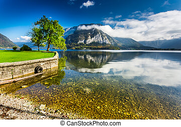 Mountain lake in Hallstatt