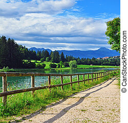 Mountain lake in Italy